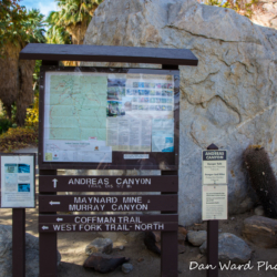 Andreas Canyon Trail Head Sign